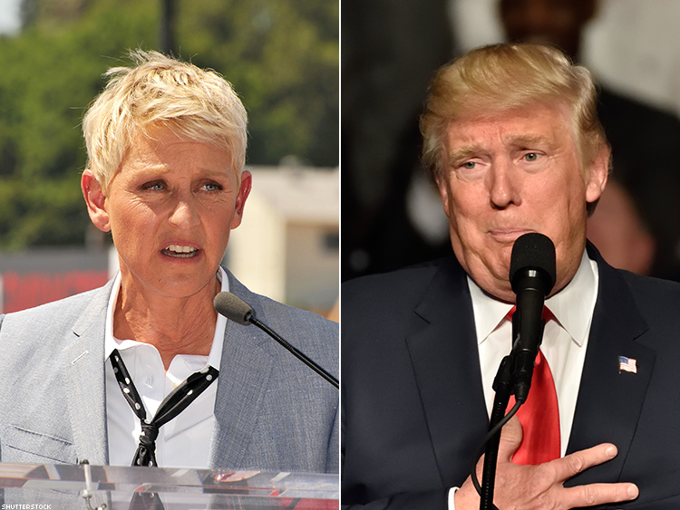 Ellen: As a 'Gay Woman,' I Could Never Have 'Dangerous' Trump on My Show