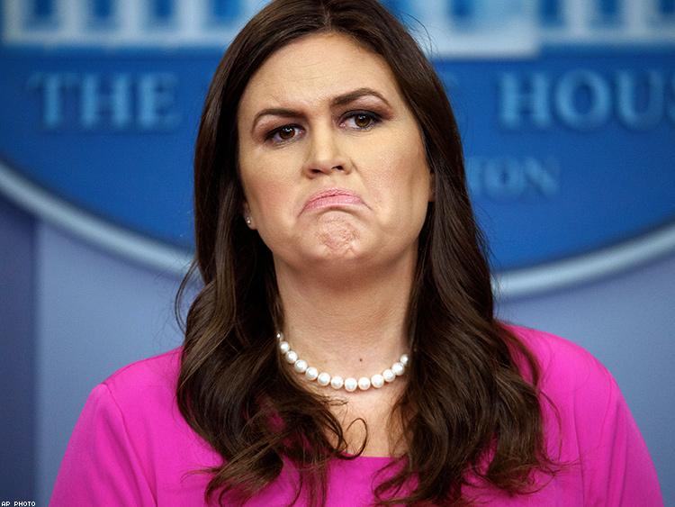 Image result for funny sarah huckabee sanders