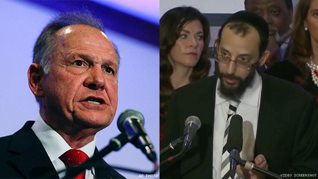 Roy Moore and Rabbi Noson Shmuel Leiter