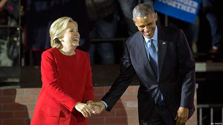 Barack Obama, Hillary Clinton remain more admired man and woman in US