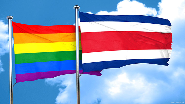 Pride and Costa Rican flags