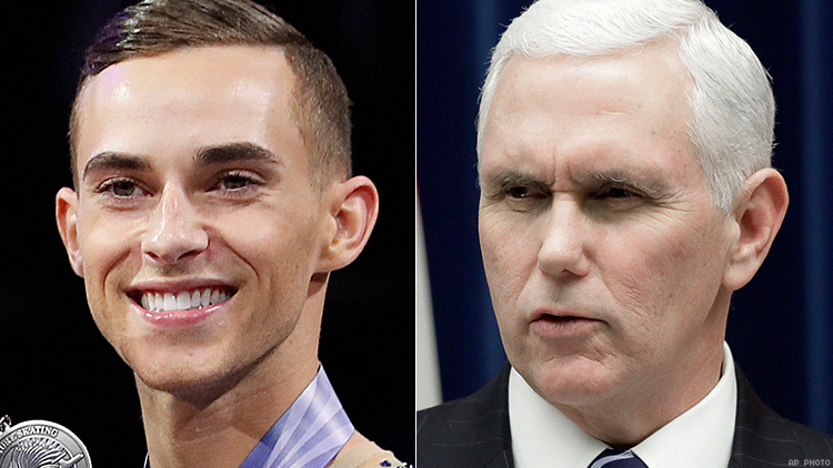 Adam Rippon and Mike Pence