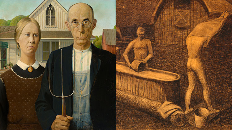 The Gay Side Of American Gothics Grant Wood Art