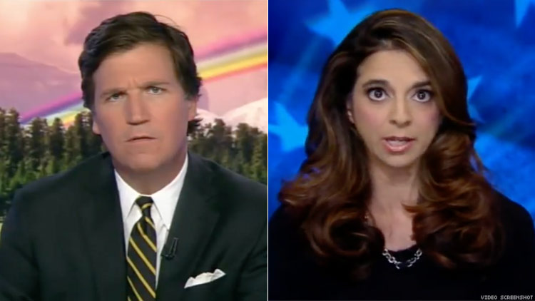 Tucker Carlson and Cathy Areu