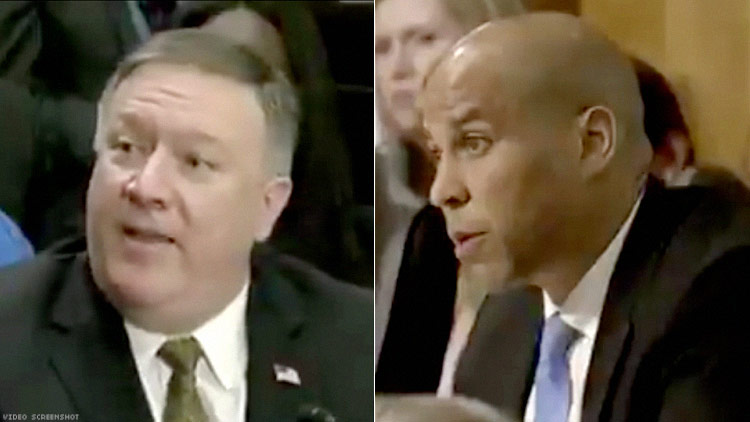 Pompeo and Booker