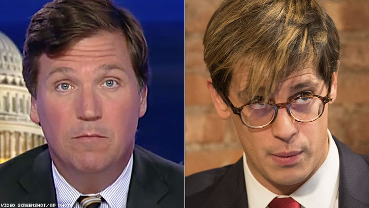 Tucker Carlson Defends Milo After Crowd Chants 'Nazi Scum Get Out'