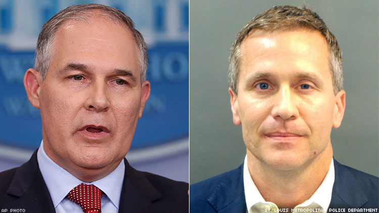 Pruitt and Greitens: Further Evidence Republicans Are Morally Bankrupt