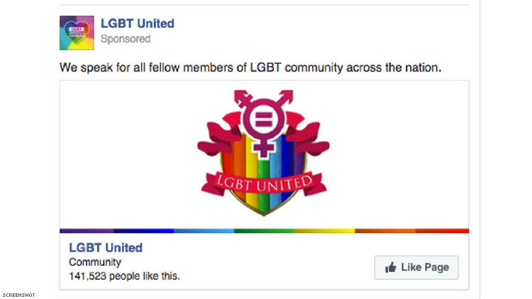 Russian Trolls' Fake LGBT Facebook Group Was One of the Most Popular