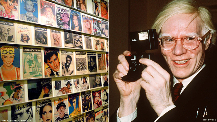 Warhol and Interview magazines