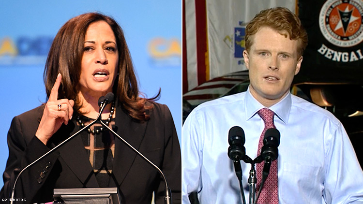 Kamala Harris and Joseph P Kennedy