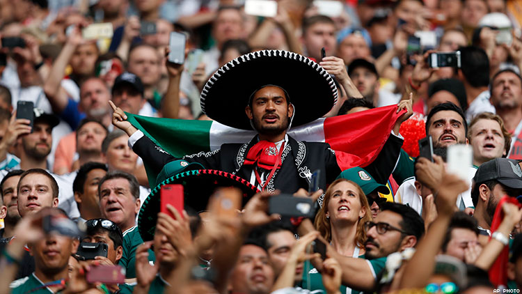 Mexico soccer fans chant homophobic slurs in a match against Germany