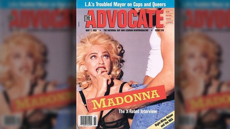 Interview magazine topless madonna