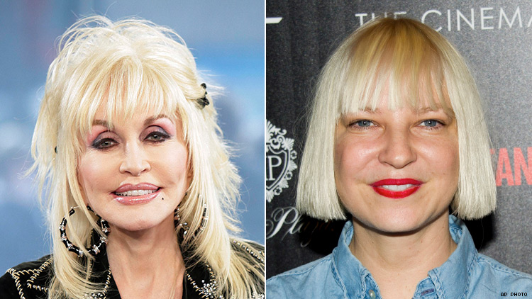 Dolly Parton and Sia