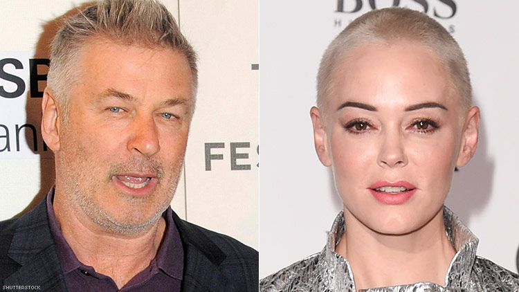 Alec Baldwin and Rose McGowan