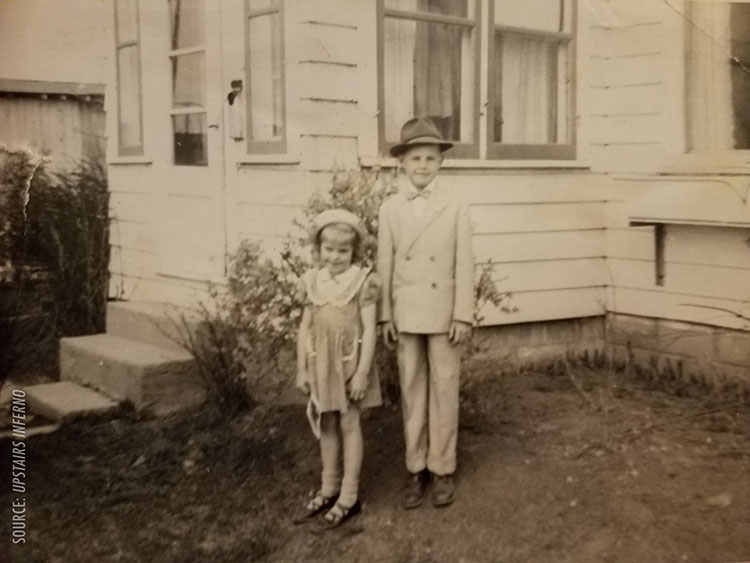 Young Ruth And Larry Frost At Easter