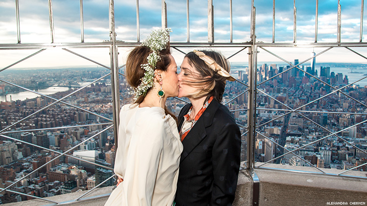 Check Out the Empire State Building's Stylish Lesbian Wedding
