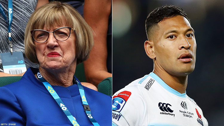 Margaret Court and Israel Folau