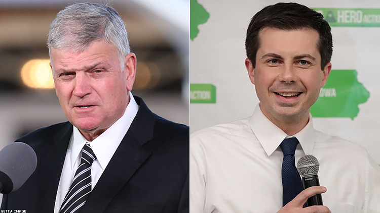 Franklin Graham and Pete Buttigieg