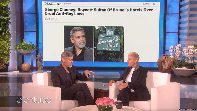 Image result for George Clooney Ellen DeGeneres