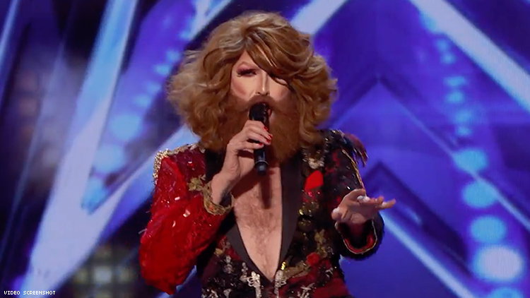 Bearded Drag Queen Slays 'She's a Lady' on America's Got Talent