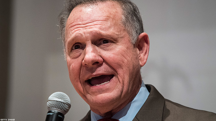 Roy Moore Blasts LGBTQ People During Ten Commandments Party