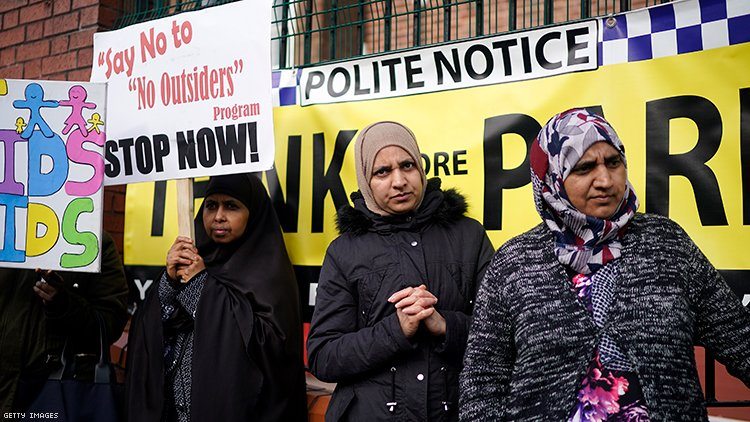 Parkfield Community School protesters