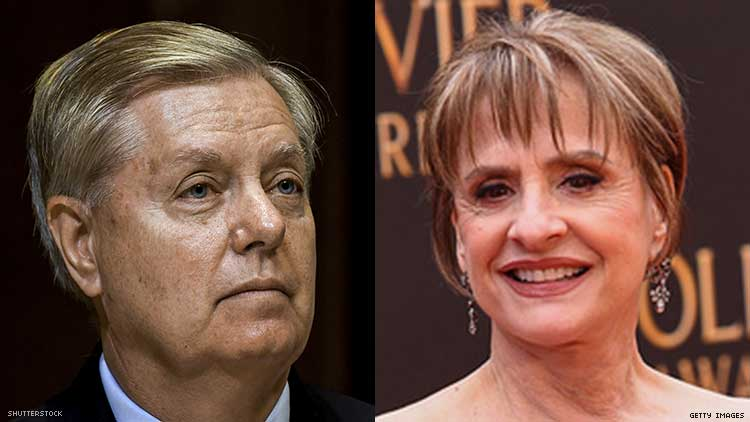 Lindsey Graham and Patti LuPone