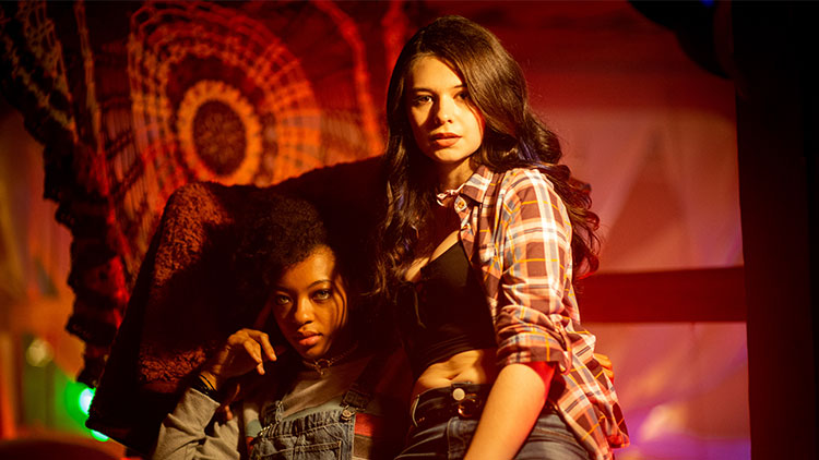 Zolee Griggs and Nicole Maines (right) in Bit
