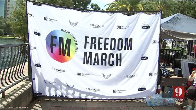 Pulse Survivors Lead Rally Promoting 'Deliverance' From Gay Identity
