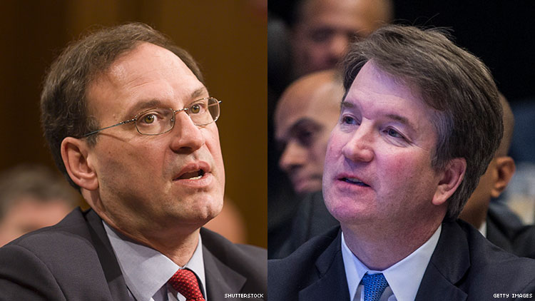 After Photo Emerges, Alito, Kavanaugh Urged to Recuse From LGBTQ Cases