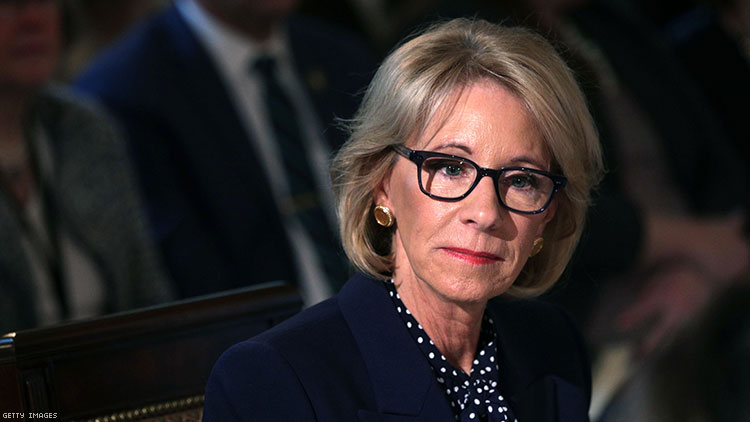 Betsy DeVos Will Visit Transphobic School During Back-to-School Tour