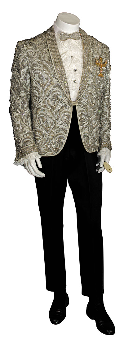 Silver Beaded Jacket With Electric CandlebraX400 0