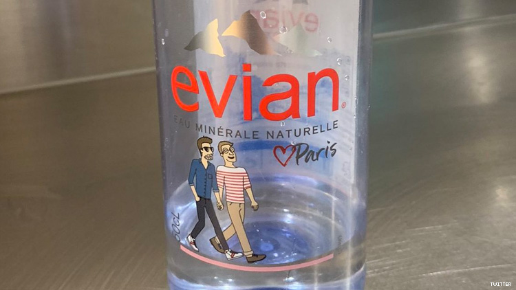 Evian to Antigay Twitter Troll: 'Delete Your Account'