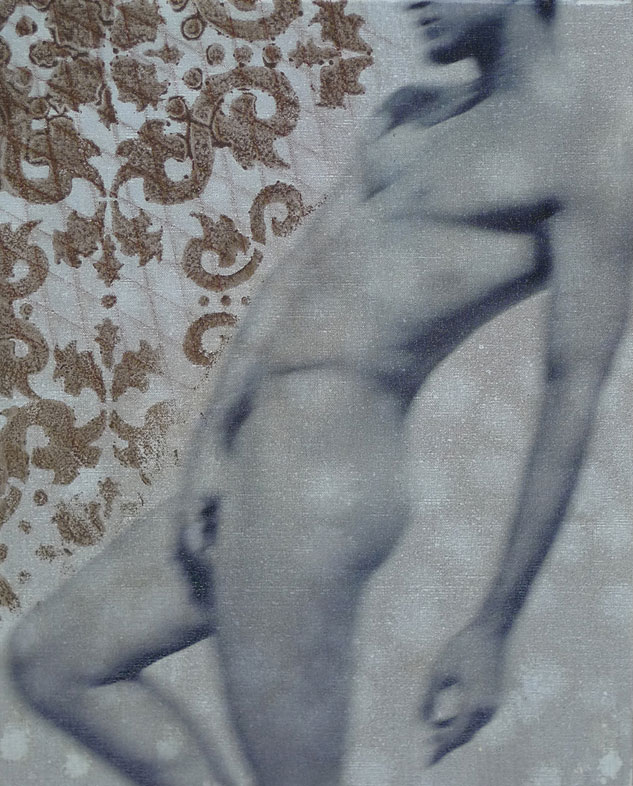 16 Prince Of West Hollywood   20x16 Charcoal & Woodstain On Linen By Taylor Smith