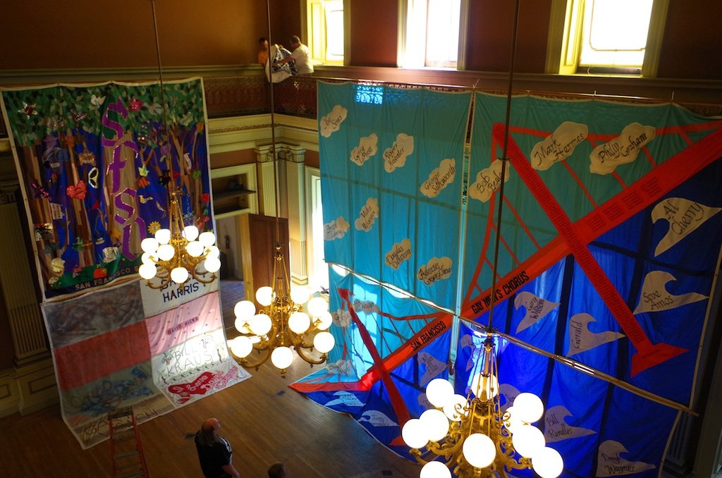 Hanging The AIDS Quilt In The Historic Old Mint