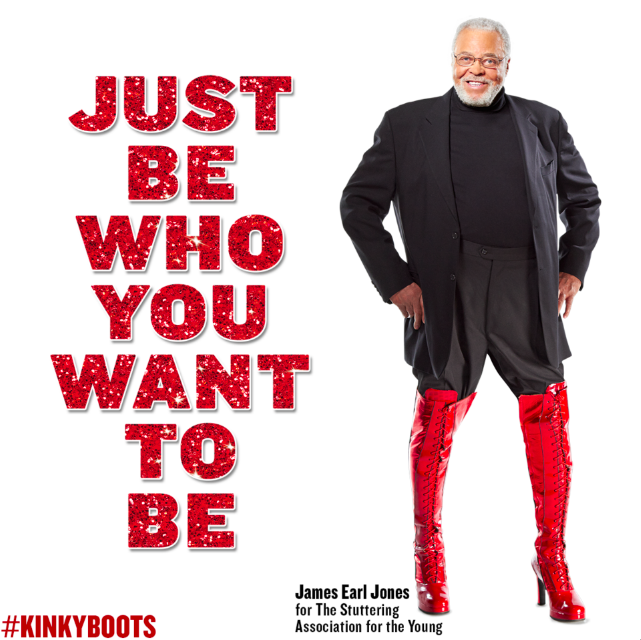 Celebs lace up for 39 kinky boots 39 39 just be 39 campaign for Who wrote kinky boots