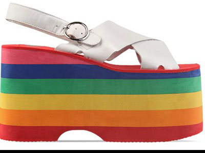 K MOday Gifts Jeffrey Campbell Shoes Starlight (White Rainbow) 010604