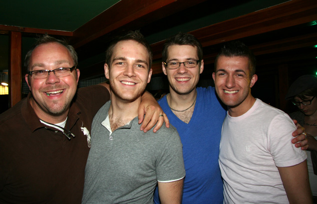 Stephan Hengst & Patrick Decker of BigGayHudsonValleycom with Michael Matejczuk and Jake Booth
