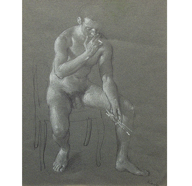 Seated Male Nude 1973x633