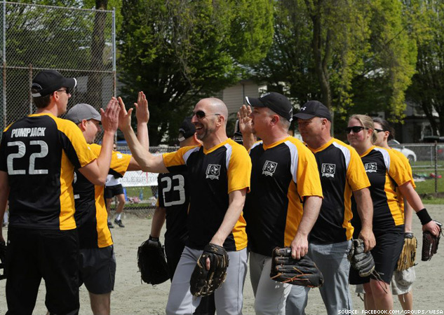 Vancouver West End Slo Pitch Association 2 X633