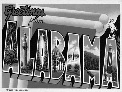 Alabama Postcardx400