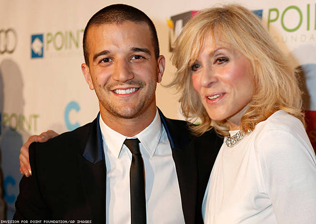 Mark Ballas, left, and Judith Light