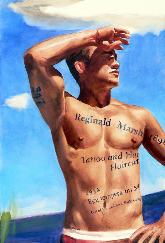JACK BALAS MUSE REGINALD MARSH TATTOO X560 | ADVOCATE.COM