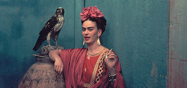 Frida Kahlo And Pet HawkX633