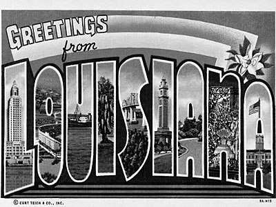 Louisiana Postcardx400