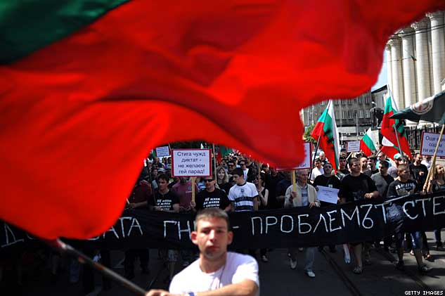 Protest By Bulgarian Nationalist Organizations Against The Annual Sofia Gay Pride ParadeX633