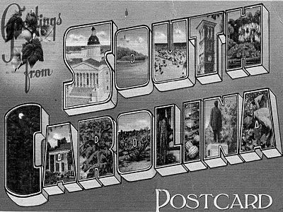 South Carolina Postcardx400