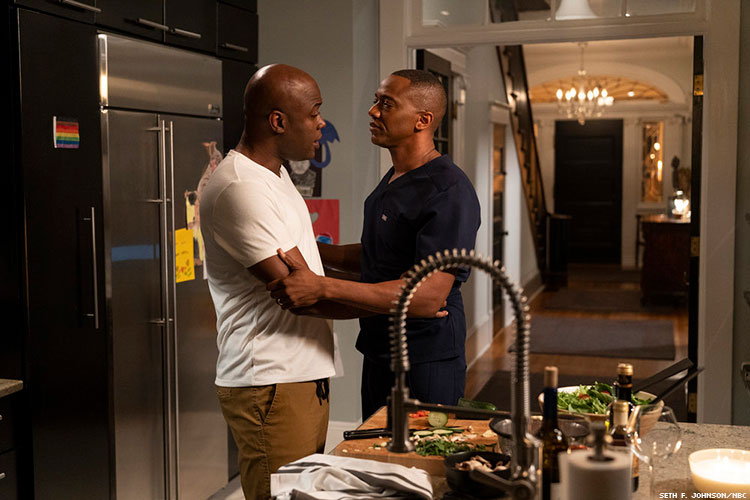 Kevin Daniels as Peter Richards and J. August Richards as Dr. Oliver Post