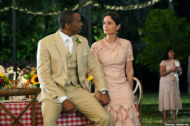 J. August Richards as Dr. Oliver Post and Sarah Wayne Callies as Robin Perry