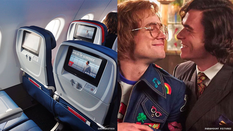 Delta Shows Rocketman 'Stripped' of Gay Scenes, Including a Kiss